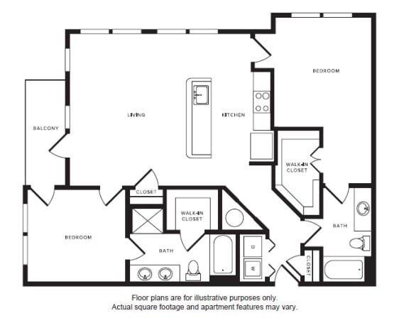 Floor Plan  B4 floor plan at Windsor Shepherd, TX, 77007