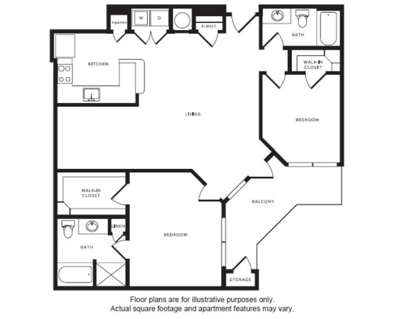 Floor Plan  B5 floor plan at Windsor Shepherd, Texas, 77007