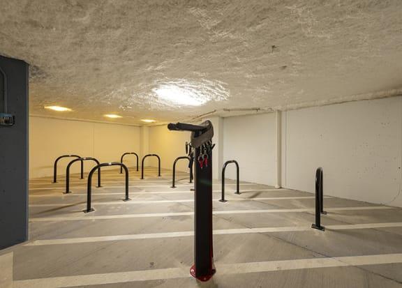Bike storage at Windsor Shepherd, Houston, Texas