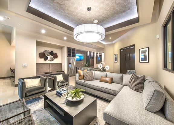 Media Lounge with Plush Seating and TV's at Windsor Turtle Creek, Dallas