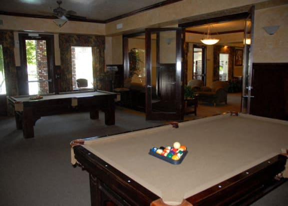Billiards Table In Clubhouse at Scottsmen Apartments, California, 93612