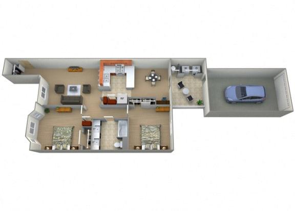 Codociera Floor Plan at Villa Faria Apartments, Fresno, California
