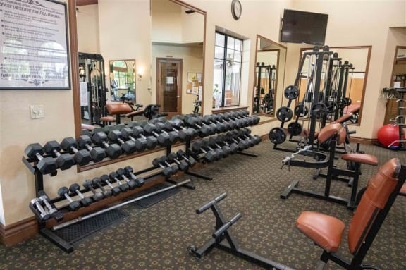 Fitness Center at Dominion Courtyard Villas, California, 93720