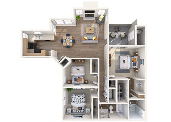 Floor Plan  Gardenia 3 bed/2 Bath