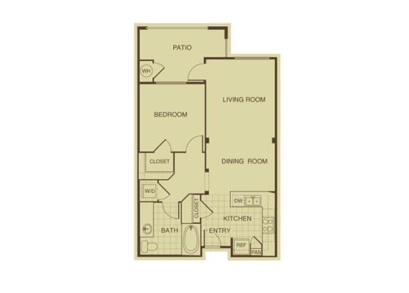 Floor Plan  Cypress FloorPlan at 55+ FountainGlen  Jacaranda, California