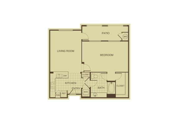 Juniper FloorPlan at 55+ FountainGlen  Jacaranda, California, 92833