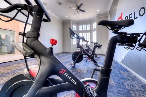 24-Hour Fitness Center With Free Weights at The MilTon Luxury Apartments, Vernon Hills, IL