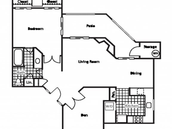 Floor Plan  A4 1 Bed 1 Bath Floor Plan at Country Brook Apartments, 4909 West Joshua Blvd, Arizona