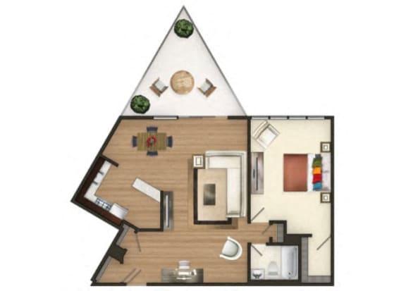 TheMark_OneBedroom_A2_MK