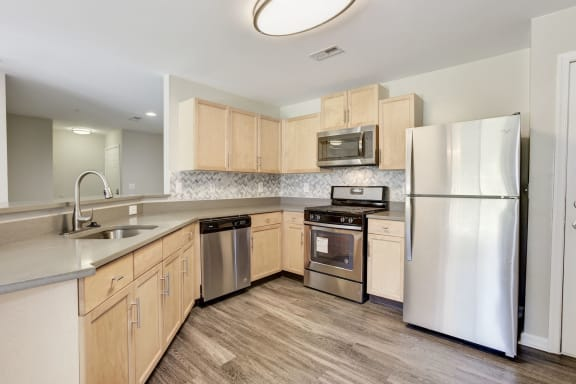Wood Flooring Kitchen Owings Park Apartments