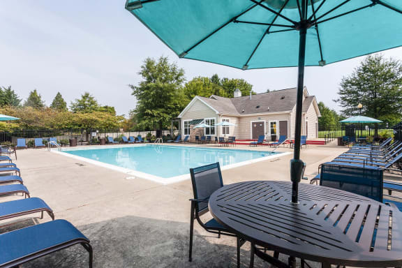 Sunny Pool Deck Owings Park Apartments