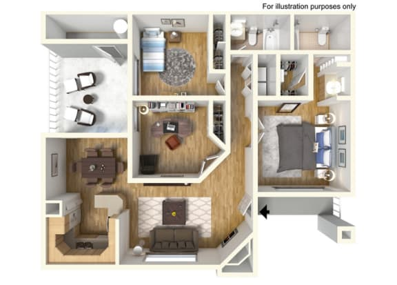 Floor Plan  3 Bedroom 2 Bath