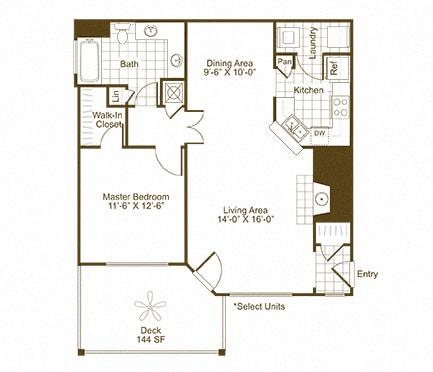 The Lex at Brier Creek A2 floor plan