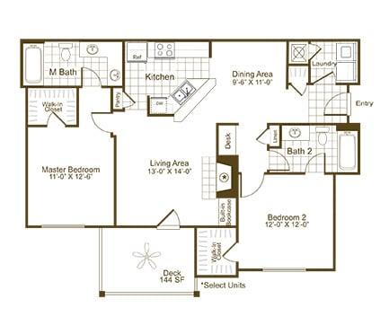 B1K floor plan