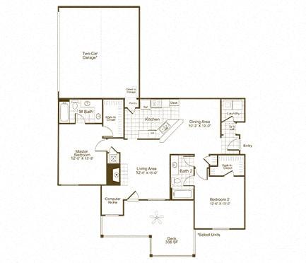 The Lex at Brier Creek B2 floor plan