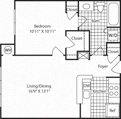 A1A Floor Plan at Westerly at Worldgate, Virginia