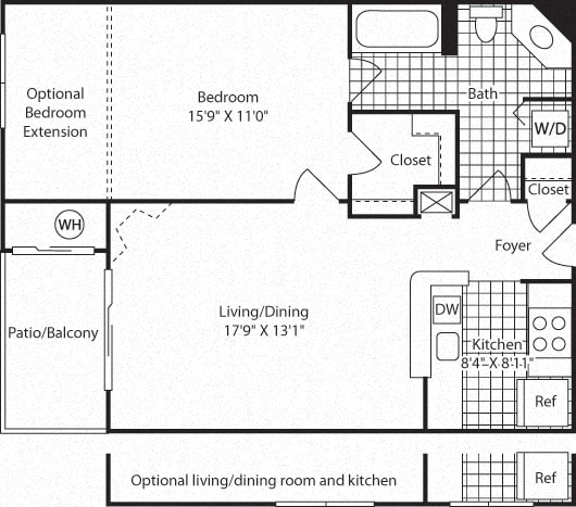 Floor Plan  A2A Floor Plan at Westerly at Worldgate, Herndon, VA