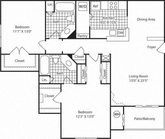 Floor Plan  B5B Floor Plan at Westerly at Worldgate, Virginia
