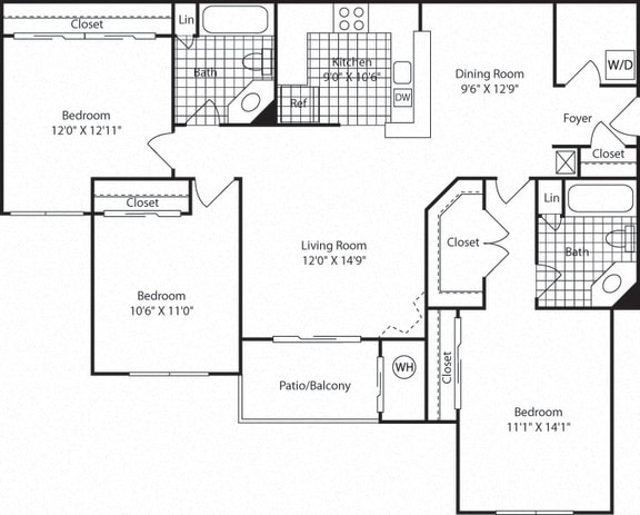 Floor Plan  C2B Floor Plan  at Westerly at Worldgate, Herndon, VA