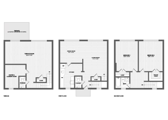 Floor Plan  2 bedrooms willoughby chevy chase rent