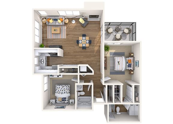 Floor Plan  2x2 Large