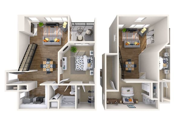 Floor Plan  1x1 Loft Large