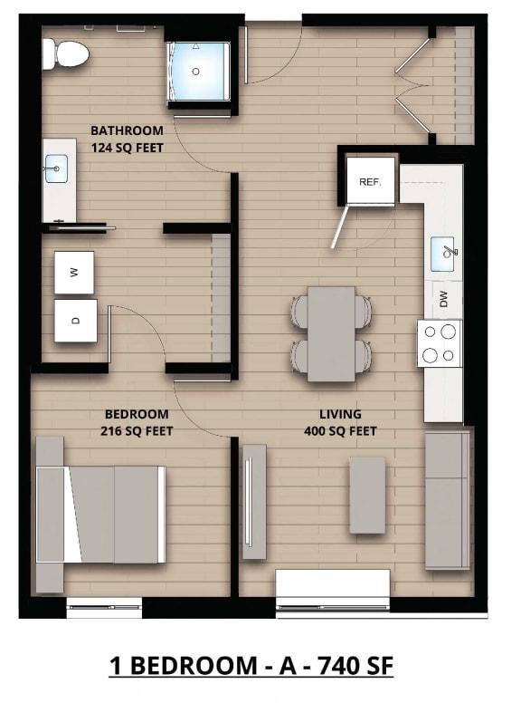 Floorplan A 1x1