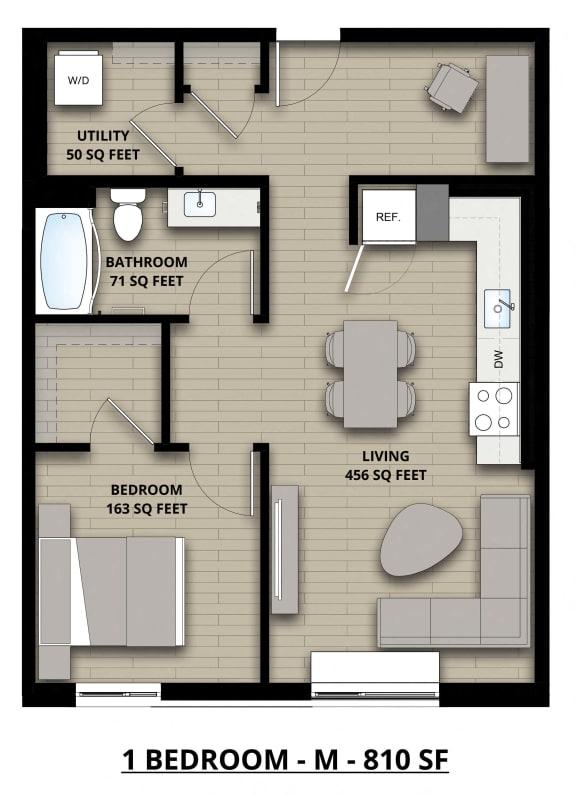 Floorplan M 1x1