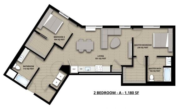 Floorplan 2A 2x2