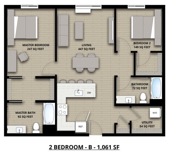 Floorplan 2B 2x2
