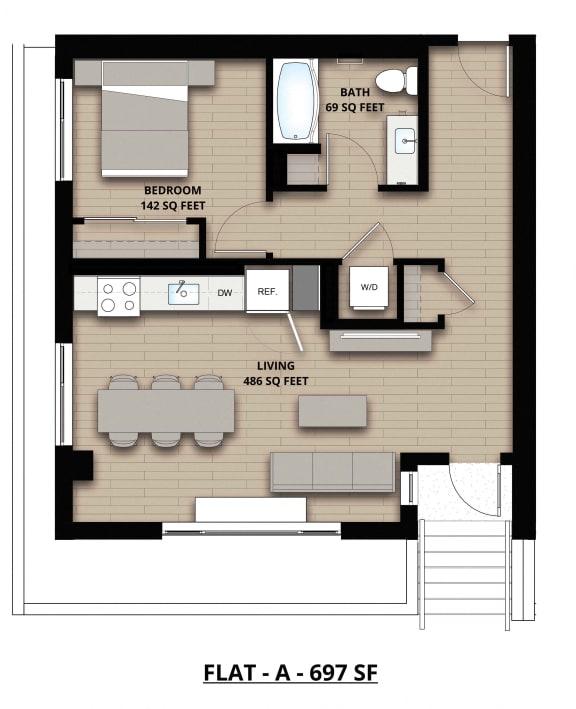 Floorplan Flat A