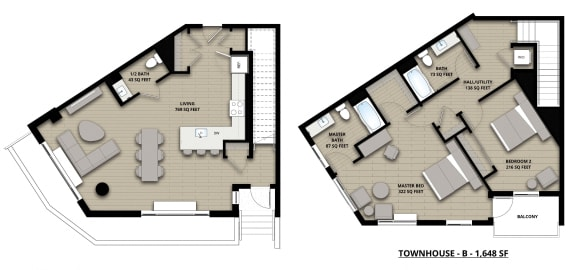 Floorplan Townhouse B