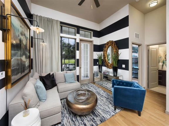 Designer Living Room at Azul Baldwin Park, Orlando, 32814