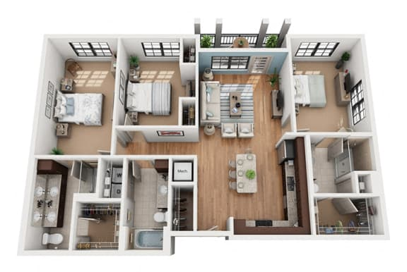 Floor Plan at Azul Baldwin Park, Orlando, 32814