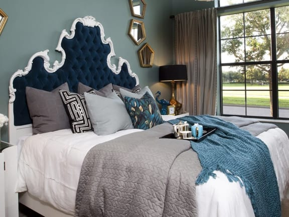 King-Sized Model Bedrooms at Azul Baldwin Park, Orlando, FL, 32814