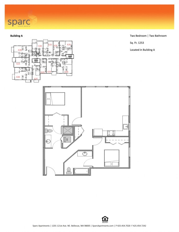 Sparc Apartments 2x2 Building A Floor Plan