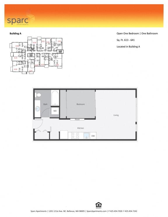 Sparc Apartments 1x1 Building A Floor Plan