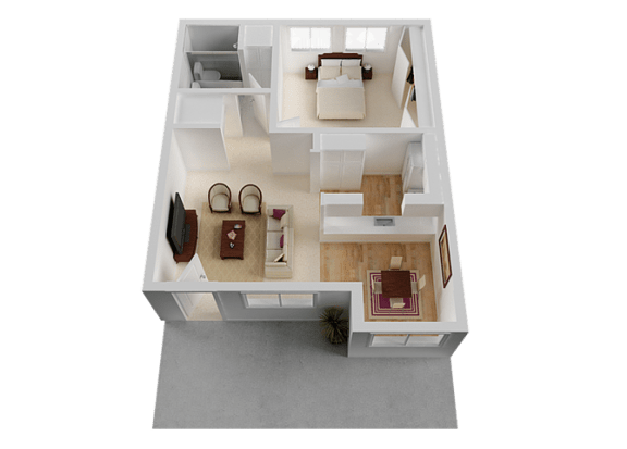 One Bedroom at Normandy Park, Santa Clara, 95050