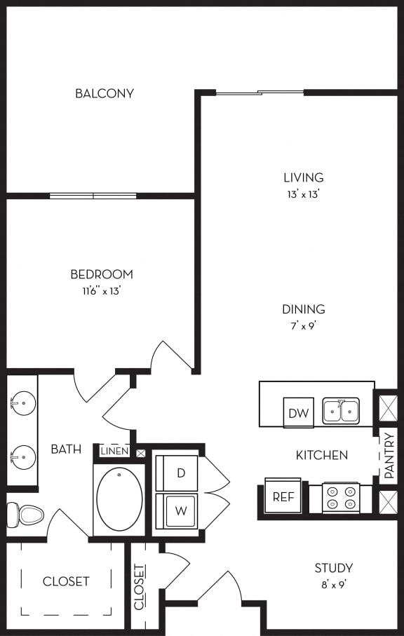 one bedroom luxury apartments in uptown dallas