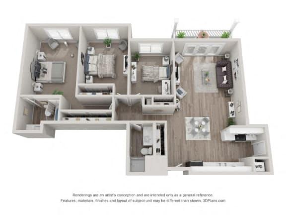 Floor Plan  C1 Floor Plan at Valley Lo Towers, Glenview, 60025