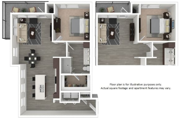 Floor Plan  A5 1 Bedroom 1 Bathroom Floor Plan at Centric LoHi by Windsor, Denver