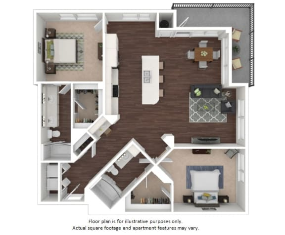 Floor Plan  B3 2 Bedrooms 2 Bathrooms Floor Plan at Centric LoHi by Windsor, Denver, Colorado