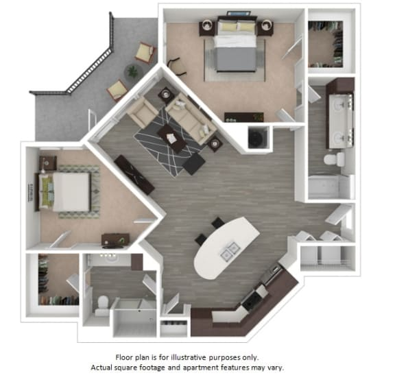 Floor Plan  B4 2 Bedrooms 2 Bathrooms Floor Plan at Centric LoHi by Windsor, Denver, CO, 80211