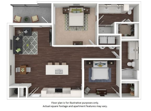 Floor Plan  B5 2 Bedrooms 2 Bathrooms Floor Plan at Centric LoHi by Windsor, Denver, CO, 80211