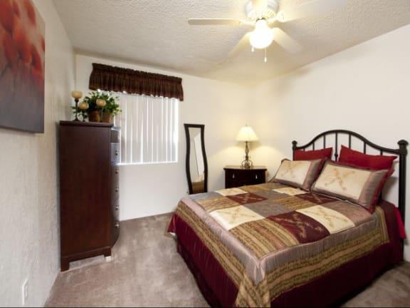 Bedroom at Casa Bella Apartments in Tucson, AZ
