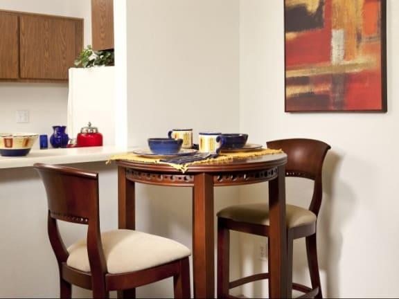 Dining Area at Casa Bella Apartments in Tucson, AZ