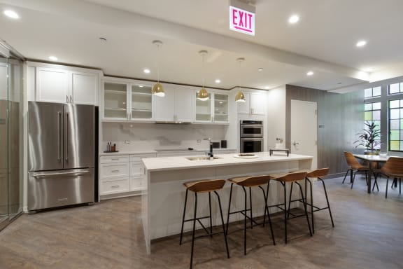 Party Room Kitchen at Park Heights by the Lake Apartments, Chicago