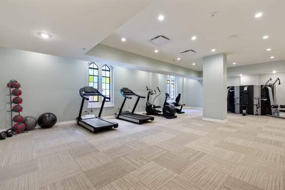 Modern Fitness Center at Park Heights by the Lake Apartments, Chicago, Illinois