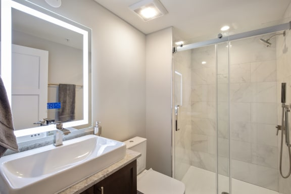 Separate Showers And Tubs In Select Floorplans at Park Heights by the Lake Apartments, Chicago, IL