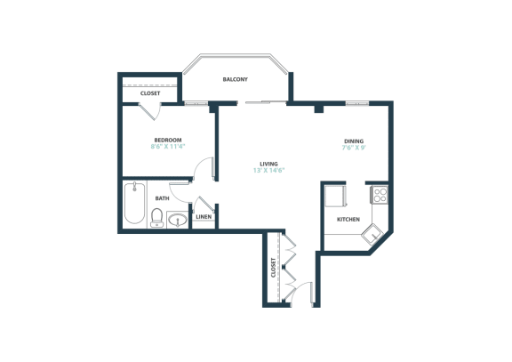 Trillium Junior One Bedroom apartment home in Fairfax, VA